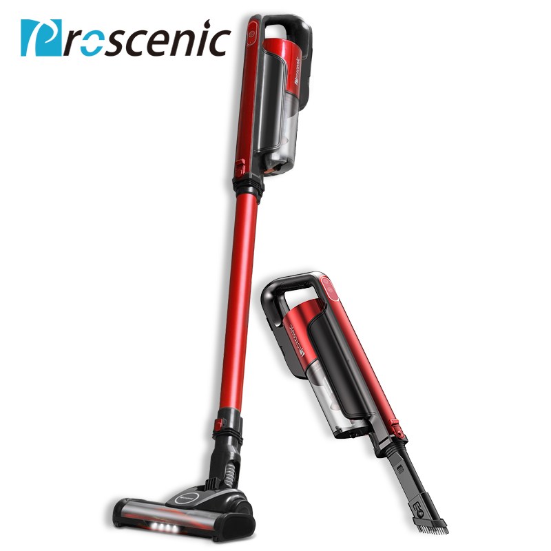 Proscenic I7 Lightweight Cordless Vacuum Cleaner 2 In 1 Wireless Portable Vacuum Cleaner Led Light With Wall Hanging 16000Pa