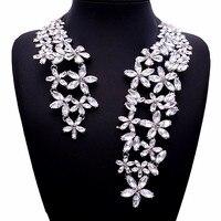 Abertura de luxo completa rhinestone cristal gargantilha colar para as mulheres marca designer liga colares jóias nupcial do casamento 2016