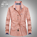 Plus size 5XL Original Brand AFS JEEP Men Shirts Casual Business100% Cotton Long Sleeve Homme Camisa Masculina Spring and Autumn