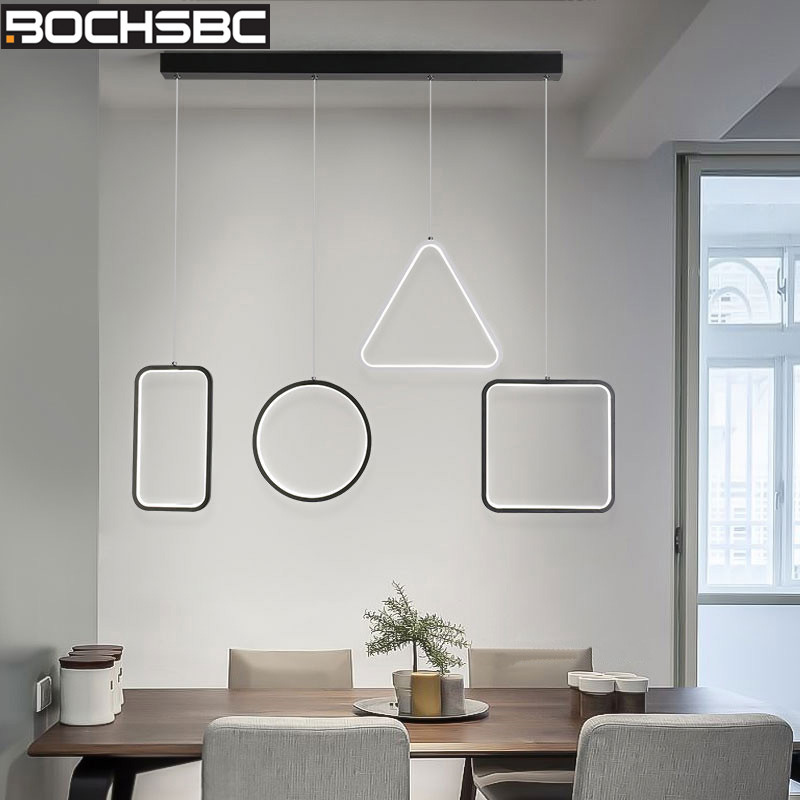 BOCHSBC Simple Led Lamp Aluminum Hanging Lampara Modern PVC Lampshade Pendant Lights for Living Room Indoor Lighting Fixtures|Pendant Lights| |  - title=