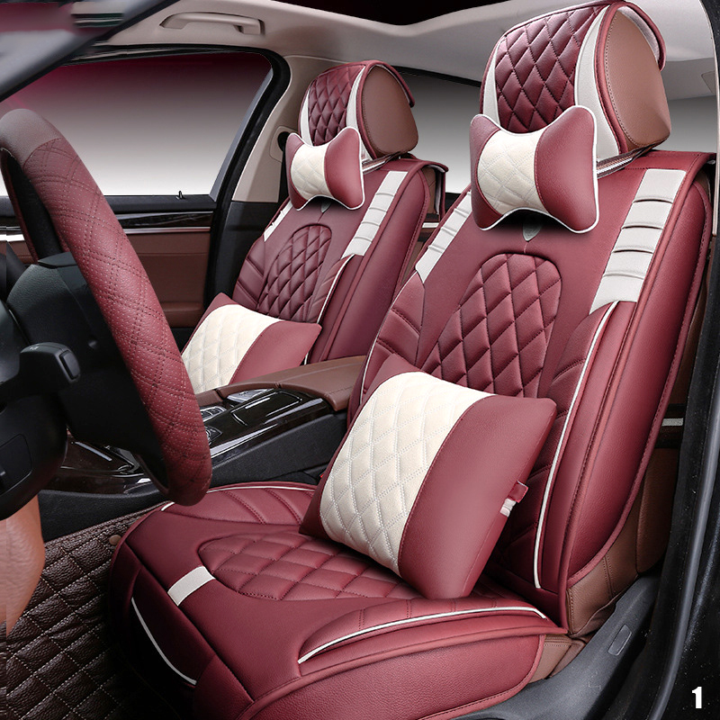 LARATH Leather Luxury car cushion seat cover universal car seat covers auto accessories car-styling ZDJ0222 front rear universal car seat covers for lifan x60 x50 320 330 520 620 630 720 car accessories auto styling