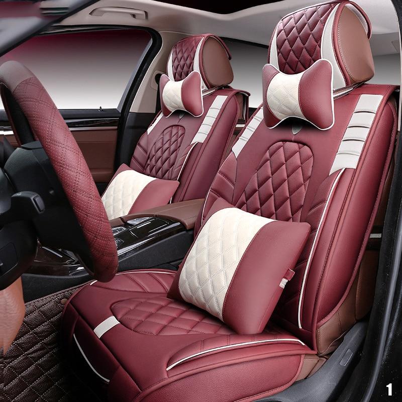 LARATH Leather Luxury car cushion seat cover universal car seat covers auto accessories car-styling ZDJ0222 2017 luxury pu leather auto universal car seat cover automotive for car lada toyota mazda lada largus lifan 620 ix25