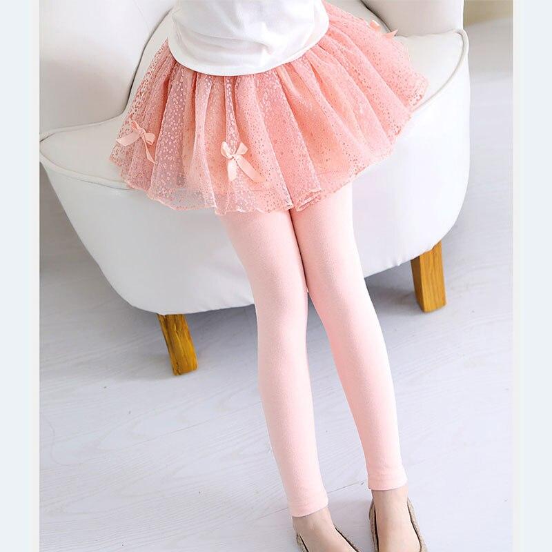 51132186 V-TREE Girl Legginsy Koronkowe legginsy dla dziewczynek Spódnica ...