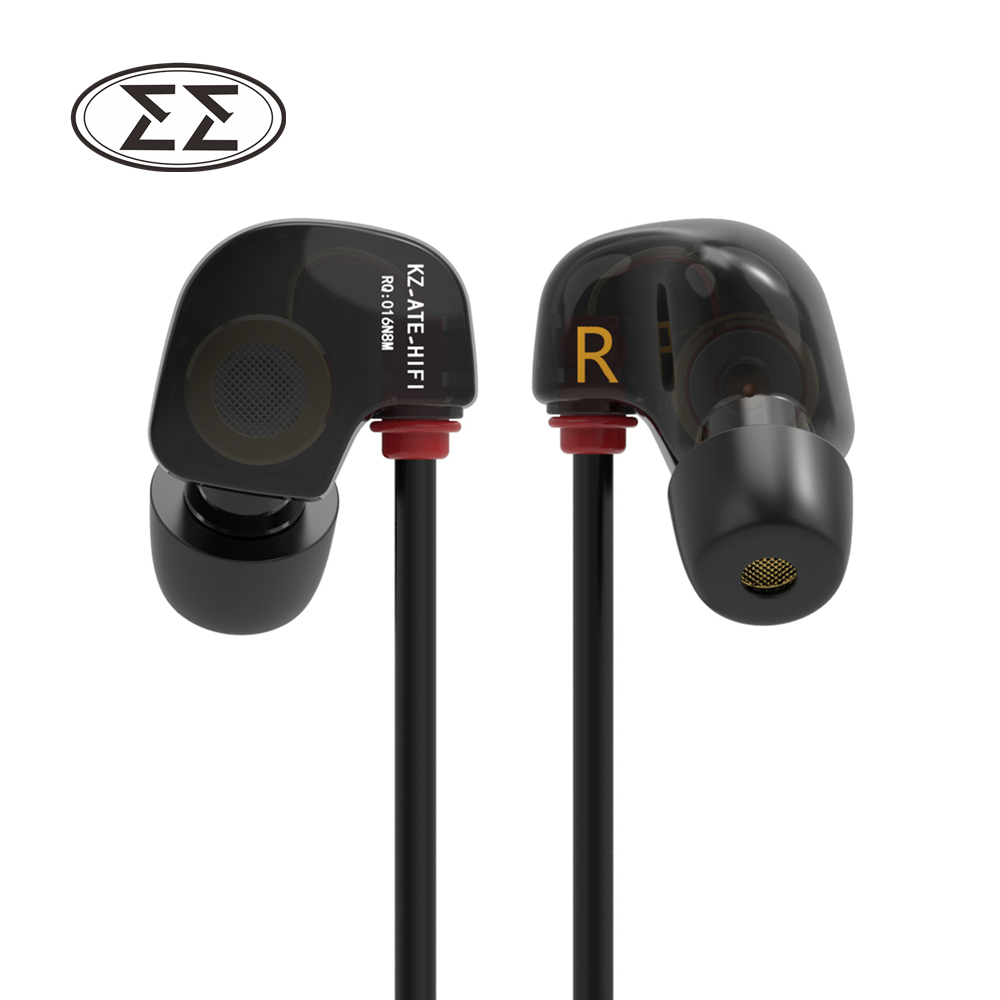 New Original KZ ATE S In Ear Earphones HIFI KZ ATE-S Stereo Sport Earphone Super Bass Noise Canceling Hifi Earbuds With Mic