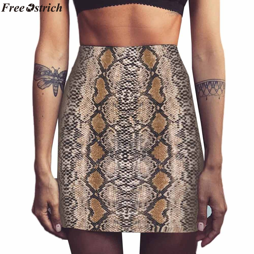 9fdfb5953be Detail Feedback Questions about FREE OSTRICH 2019 Winter Women Skirt  Vintage Sexy Snakeskin Patterned Bodycon Skirt Sexy High Waist Elastic Short  Pencil ...