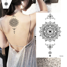 18 ink henna temporary tattoo stickers imitation flower pendant arm hand waterproof body art