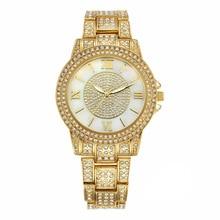 2016 NOBDA Marca Señora Reloj de Cuarzo Vestido de Las Mujeres de Lujo Del Diamante Del Oro Reloj de Pulsera de diamantes de Imitación Reloj montre femme reloj pulsera