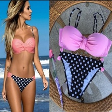 Bikini  Women Swimsuit Push Up Swimwear Women Sexy Bandeau halter biquini Brazilian Bikini Set Beach Bathing Suit Swim Wear