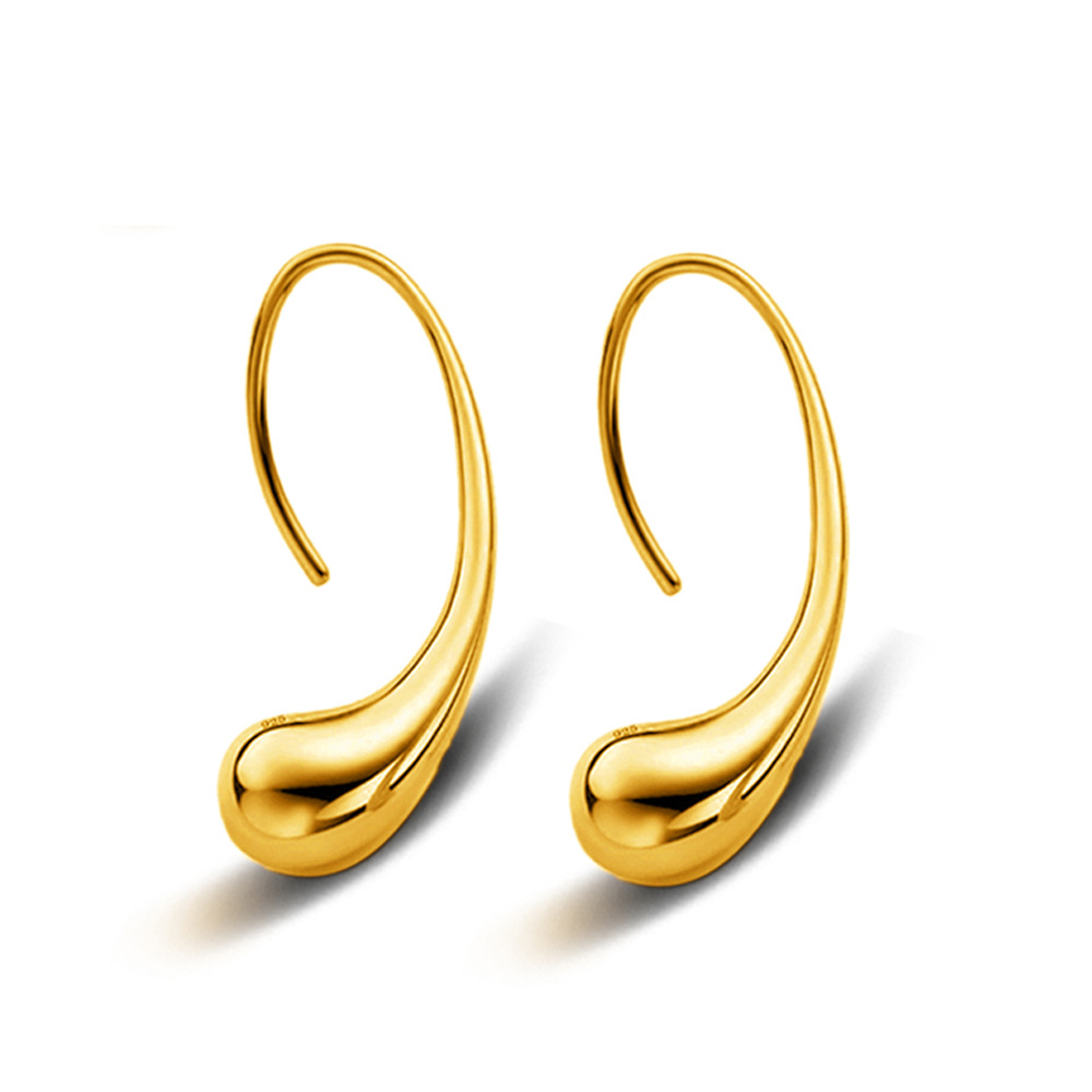 Fashion trend exquisite jewelry super beautiful 18K gold color water drop hook earring