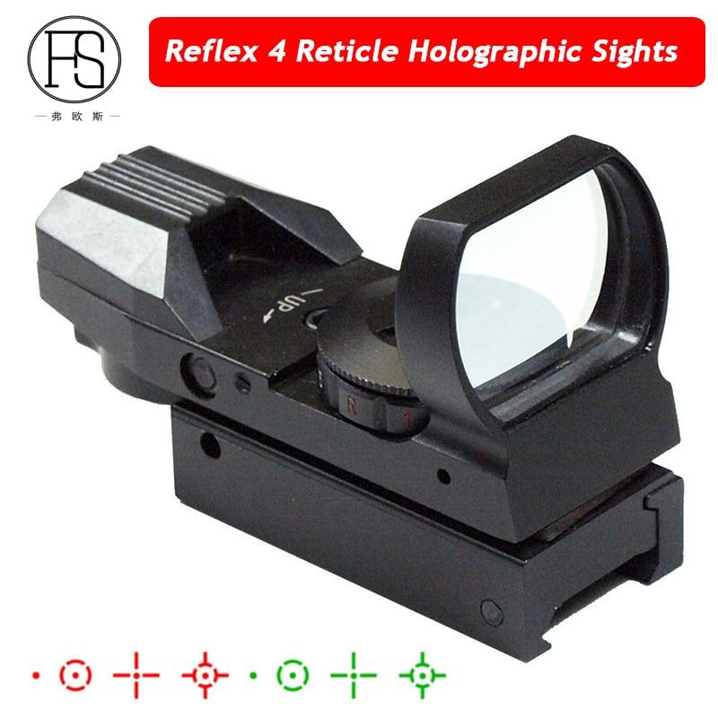... Ótica Riflescope Reflex 4 Retículo Mira Reflex Mira Holográfica Tático  Ponto Vermelho 20mm 11mm Escolha Caça Verde Vermelho Dot Sight ... de8567c9d61e7