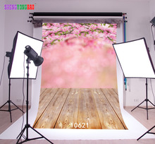 SHENGYONGBAO Art Cloth Custom Photography Backdrops Prop Wooden and floor Theme Background 10621