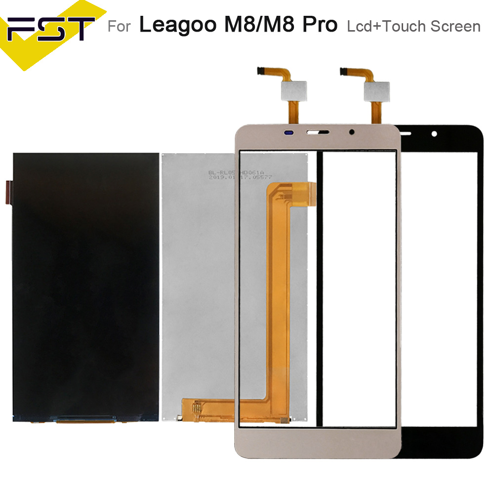 Black/Gold For Leagoo M8 LCD Display+Touch Screen Digitizer Repair Parts For Leagoo M8 Pro LCD Screen Glass Panel Sensor+Tools
