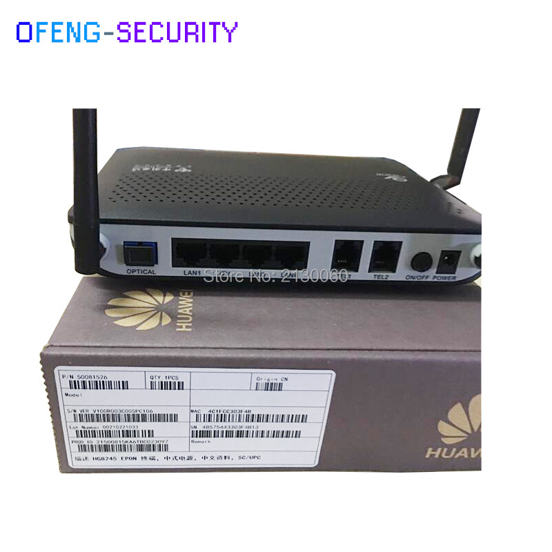 HUAWEI HG8245 PON/GPON/EPON/ ONU/ONT With 4 Ethernet and 2 Voice ports 100% tested work perfect for hg8010 onu epon gpon