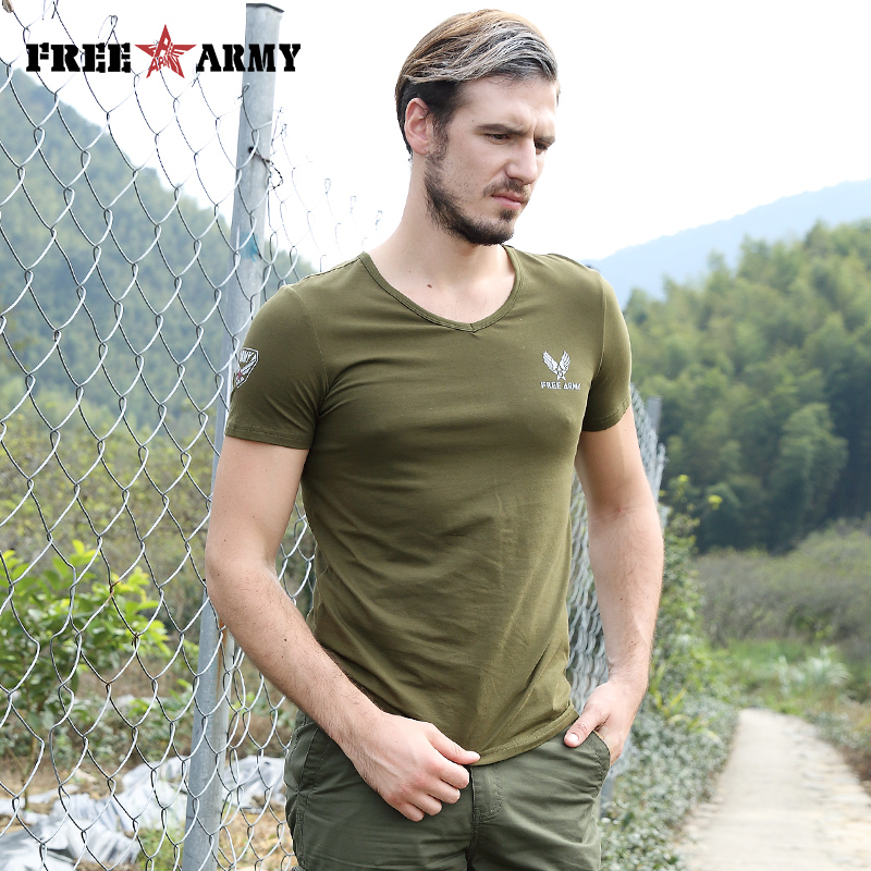 2018 Sommer Mens Fashion T Shirts Grüne Farbe baumwolle Marke - Herrenbekleidung