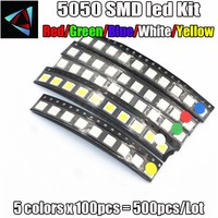 smd 5050 Free Shipping 5050 SMD LED 100pcs/lot Ultra Bright White Color Light Diode Wholesale (1)