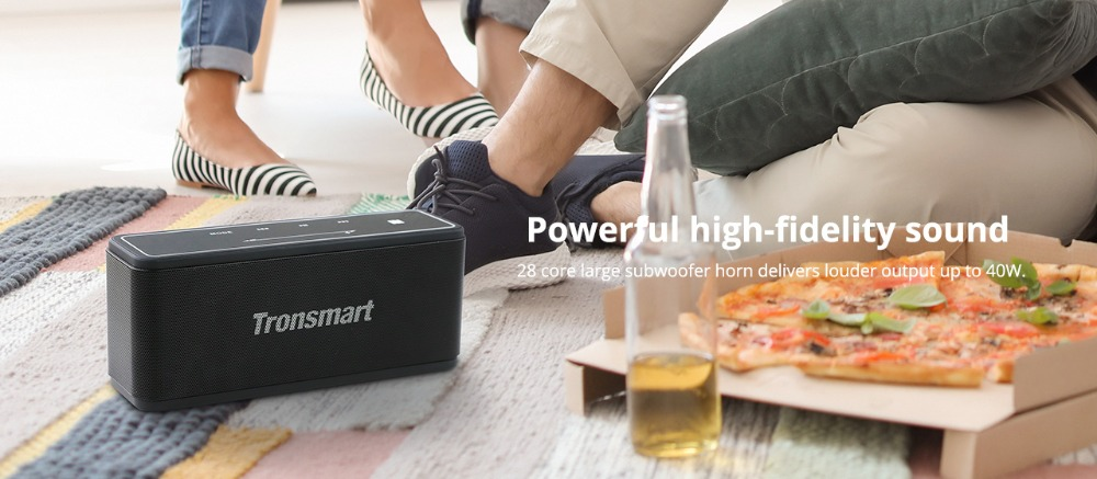 Tronsmart Element Mega Bluetooth Speaker Wireless Speaker 3D Digital Sound TWS 40W Output NFC 20m Portable Speaker MicroSD Card01