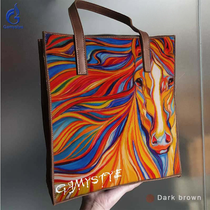 2018 Luxury Women Genuine Leather Handbags Ladies Retro Elegant Shoulder Messenger Bag Cow Leather Handmade Womans Bag Art zebra vintage women genuine leather handbags ladies retro elegant shoulder messenger bag cow leather handmade womans bags