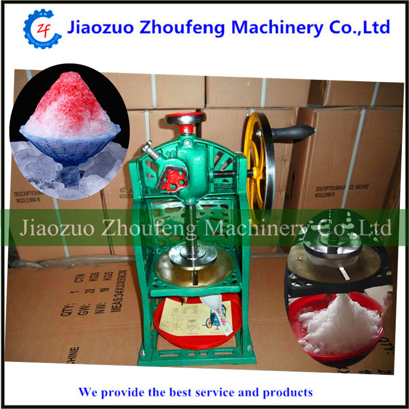 Ice crusher home use Snow cone machine hand driven ice crusher commercial and home use crushed ice machine zf