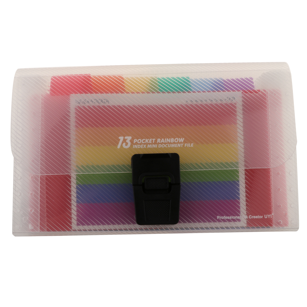 Portable A6 13-Pocket Expanding File Folder Organizer Travelling Daily Use