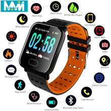A6 Smart Bracelet Blood Pressure Oxygen Smart Bracelet Heart Rate Monitor IP67 Waterproof A6 Smart Band For IOS Android