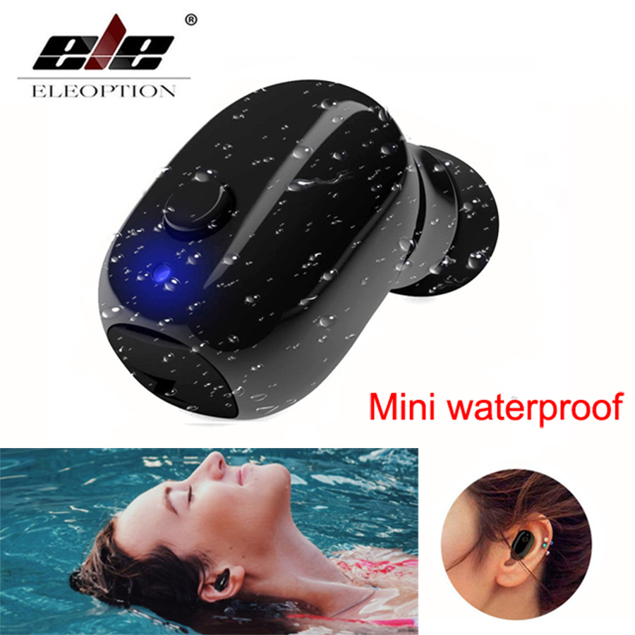 Waterproof Mini Invisible Bluetooth Earphone Micro Wireless Sport headset 4.2 Earbud headset Swimming Micro Headphone Bluetooth