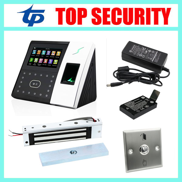 Good quality face recognition time attendance time clock biometric fingerprint door access control system face access controller tcp ip biometric face recognition door access control system with fingerprint reader and back up battery door access controller