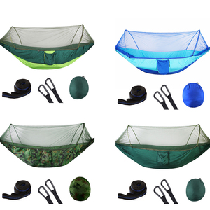 Image 4 - Pop Up Camping Hammock With Mosquito Net Portable Quick Set Up Hanging Sleeping Bed 250x120cm Outdoor Hamak Hamac 98*47