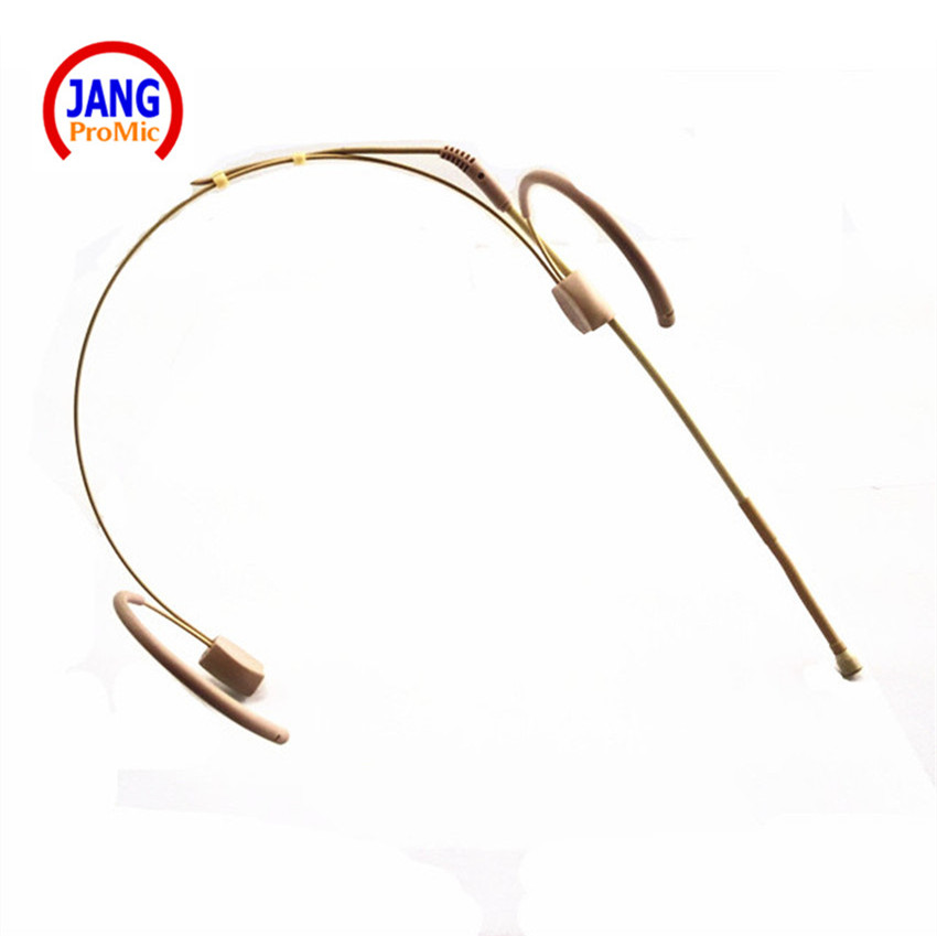 Professional Beige Wired Headset Condenser Microphone Headworn Microfone for Sennheiser Wireless Transmitter 3 5 Screw XLR etc in Microphones from Consumer Electronics
