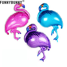 FUNNYBUNNY Hot Sell Giant Flamingo Foil Balloons Party Birthday Wedding Decoration Supplies