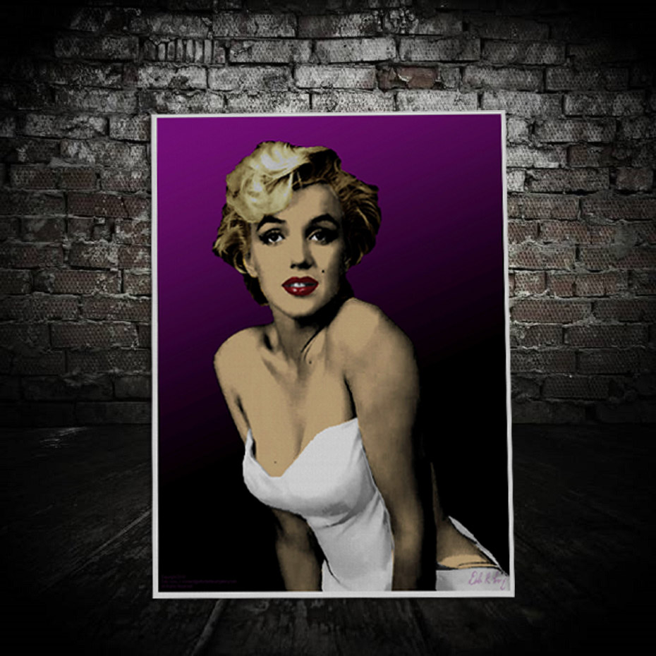 Classic Character Marilyn Monroe Canvas Painting Sexy Beauty Wall Art Pictures Printed Posters of Living Room Home Decoration (6)