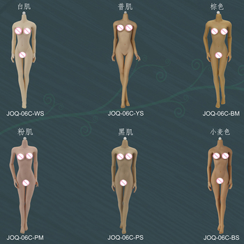 6 Styles Middle bust 06C 1/6 Scale Jodoll 3.0 Super Flexible Sexy Seamless Female Body Skeleton Connect Feet No Head 12Inch