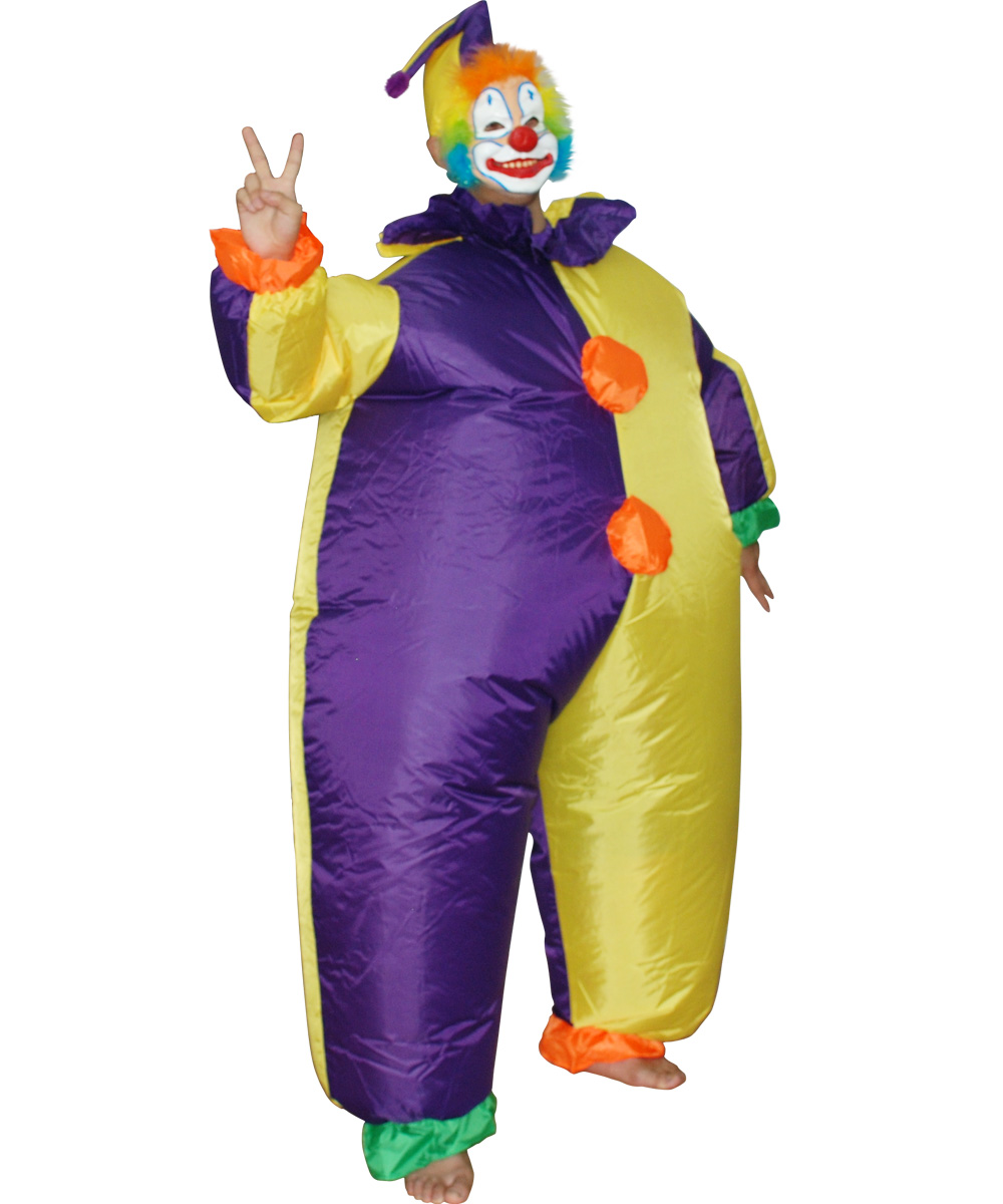 Free Shipping Clown Inflatable Costume Adult Fancy Dress Suit Party ...