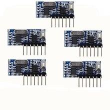 5 قطعة 433 mhz مستقبل ترددات لاسلكية التعلم رمز فك وحدة 433 mhz اللاسلكية 4 قناة الناتج Diy عدة للتحكم عن بعد 1527 ترميز