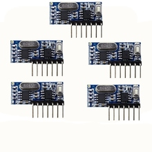 5 pcs 433 mhz RF Ontvanger Learning Code Decoder Module 433 mhz Draadloze 4 Kanaals output Diy kit Voor Remote controle 1527 encoding