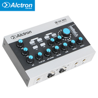 USB Audio Recording Interface External USB Sound Card with DSP Effect ,48V Phantom Power In ,RCA Cable for Microphone Cellphone