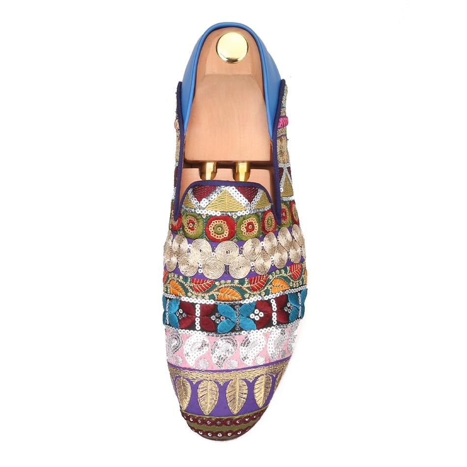 Llegada Ser Mezcla Como A Zapatos 2019 Hecho Costura Hombres Cuero Los Nueva Zapatilla Multiple Usado Vuelta De Piergitar Holgazanes Lentejuelas Fiesta Mano Puede czUEE