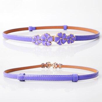 Sweet cute Flowers women's belts brand skirt belt dresses for girls riem LIC 2018 high quality female casual leather belt Y003 1