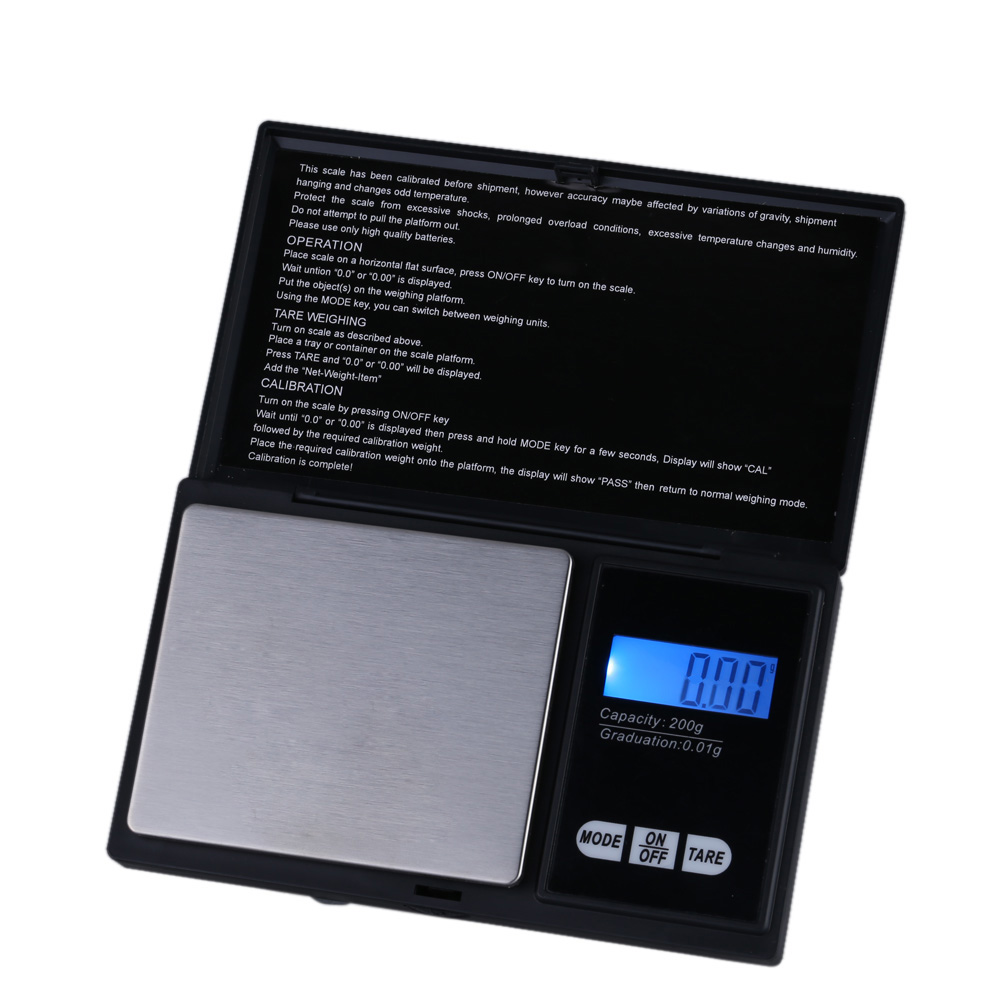 US $6 74 50% OFF|kkmoon 200g * 0 01g Digital Scale Professional Mini  Digital Pocket Scale Jewelry Weighing Tool-in Weighing Scales from Tools on