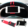 2016 Universal Car Steering Wheel Mobile Phone Holder, Bracket free hand car stand holder for iPhone 4S 5 6 Samsung Galaxy S6
