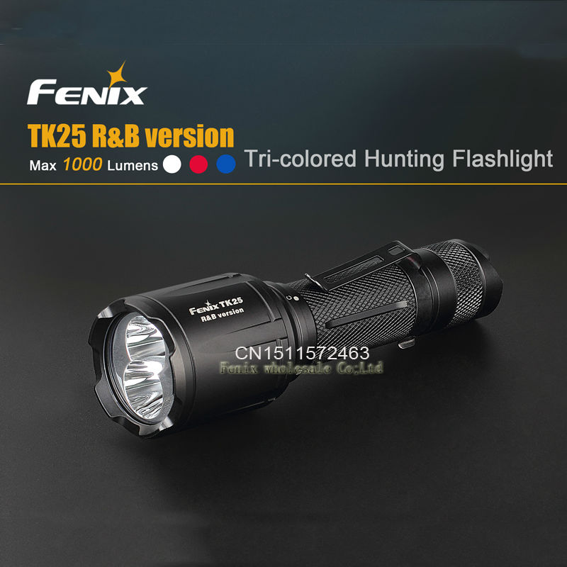 Fenix TK25RB 1000 lumen sthe white red and blue lights hunting