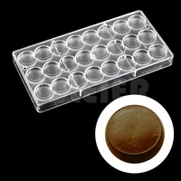 DIY Make Baking Tools Pastry Cake Mold Round Shaped For Chocolate Polycarbonate Chocolate Mold PE Candy
