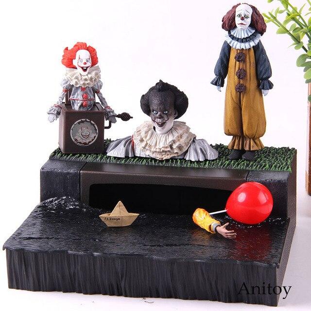 Stephen King é Pennywise NECA NECA Figura Acessório Definir O Palhaço Pennywise Collectible Modelo Toy Action Figure PVC