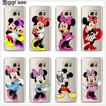 Mickey Minnie TPU Case For Samsung Galaxy S6 S7 Edge S8 S9 S10 Plus A5 A7 J3 J5 J7 2017 J4 J6 A6 A8 Plus 2018 S10E M10 M20 Cover(China)