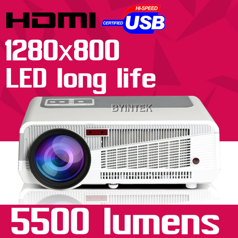 7500lm Hd Home Theater Multimedia Lcd Led Projector 1080: Home Theater HD 1280x800 5500Lumens Digital Multimedia