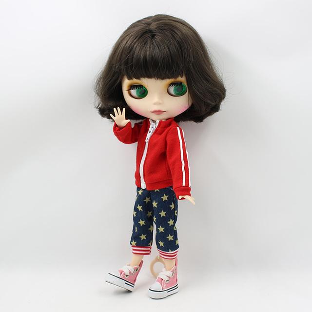 TBL Neo Blythe lutka crna kratka kosa spojena tijela