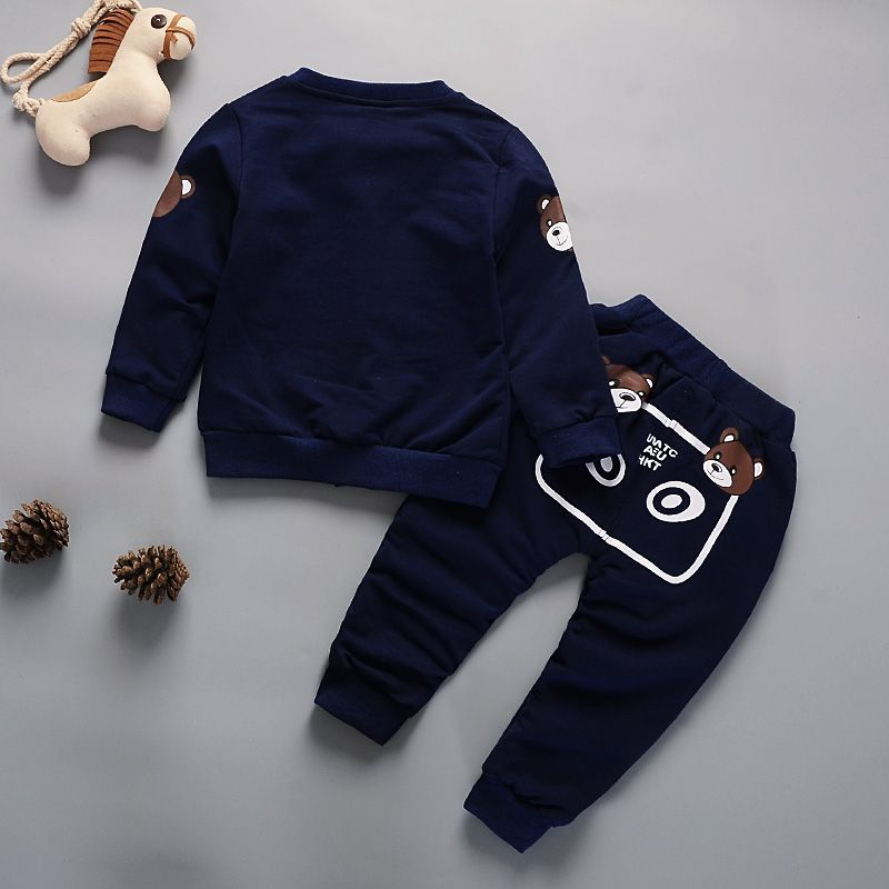 Newborn Kids Clothes Baby Boy Fashion Clothing Set 3PCS Tracksuit Autumn Spring Costume Toddler Children Outfits 1 2 3 4 Years 5