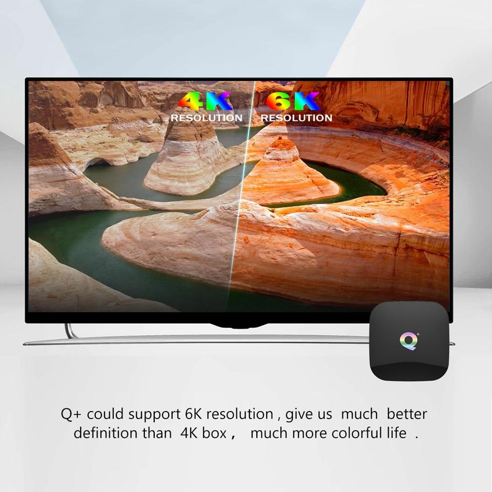 Image 5 - Qplus 6 K USB3.0 HDMI2.0 Android 8,1 ТВ коробка 4G/64 GB H6 A53 4 ядра Mali 720, объемом памяти 4 Гб/32 ГБ тысяч ежедневное обновление фильмов и ТВ показывает-in ТВ-приставки from Бытовая электроника