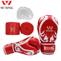 Wesing boxing gloves sets mouth guard protector hand wraps training equipment sets sanda muay thai