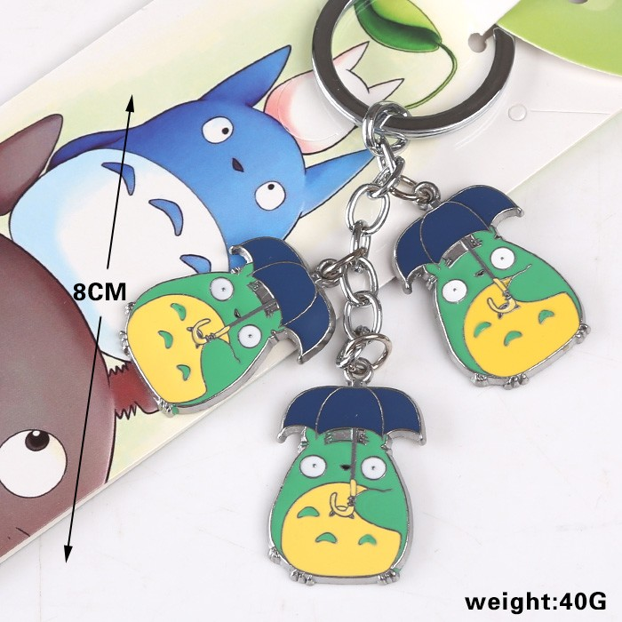 30 PCS/LOT My Neighbor Totoro Doll Keychain Key Chains Model Figure Necklaces Pendants
