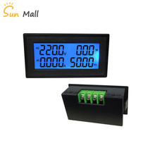цена на High Quality 20A Multi-function Digital AC Voltmeter Ammeter/Power Meter/Frequency Meter/Energy Meter 220V 380V 500V LCD display